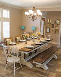 Dining Room Table Farmhouse Dining Room A Stunning Farmhouse Dining Room Table With Chairs