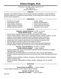 Best Uk Resume Format by Best Doctor Resume Example Livecareer