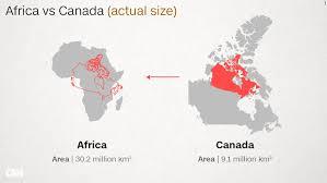 map us canada why do western maps shrink africa cnn
