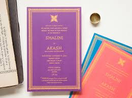 South Indian Wedding Invitation Cards Designs Crowning Jewel Modern Indian Wedding Invitation Purple Card