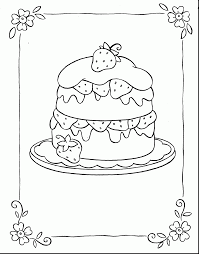 awesome happy birthday coloring pages cake coloring pages