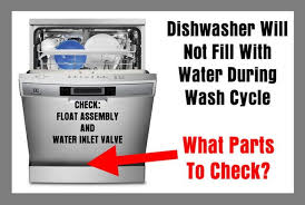 Bosch Dishwasher Water Inlet Filter Dishwasher Will Not Fill With Water During Wash Cycle What Parts
