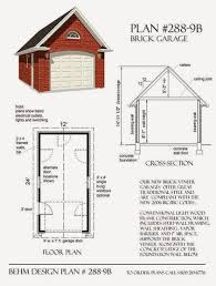garage plans blog behm design garage plan examples plan 288 plan 288 9b brick 1 car garage