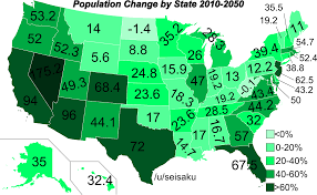 map us states population population change by us state 2010 2050 oc 1500x923 mapporn