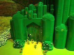 Wizard Of Oz Bedroom Decor Thrift Store Bought Green Glass Bottles To Make A Mini Emerald