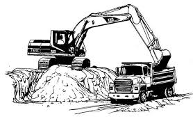 excavator loading truck coloring pages download u0026 print