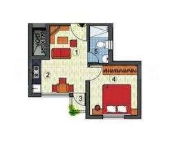 sle floor plan 1 bhk apartment flat for sale in simoco sanhita rajarhat kolkata