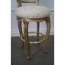 gilt frame louis xv counter bar stools pair chairish