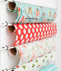 paper wrap 33 ways to organize your gift wrapping essentials
