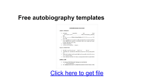 biography exle yourself free autobiography templates google docs