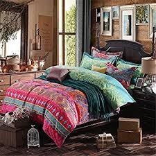 Exotic Comforter Sets Amazon Com Luxury 4 Piece Bohemian Exotic Style Bedding Duvet