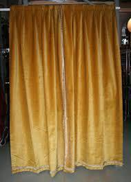 Velvet Curtains Pair Of Gold Velvet Drapes At 1stdibs
