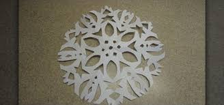 snowflake decorations how to craft simple six pointed paper snowflake decorations for