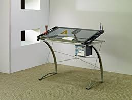 Glass Drafting Tables with Amazon Com Coaster Desks Artist Drafting Table Desk Kitchen U0026 Dining