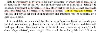 can a person with a tattoo be eligible for ias