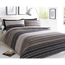 Brown Duvet Cover King Pieridae Textured Stripe Brown Duvet Cover U0026 Pillowcase Set