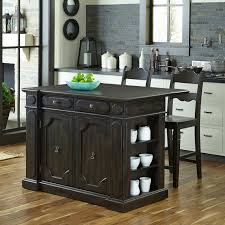 sunset trading 3 piece tile top kitchen island set with 2 stools