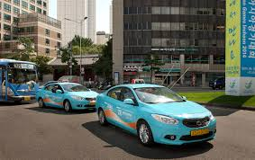 renault samsung 10 renault samsung sm3 z e evs hit streets of seoul city as taxis