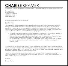 best cover letter architecture firm 65 with additional example