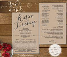wedding program card stock wedding program fan pdf template instant editable