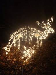 Moving Reindeer Christmas Decorations large reindeer family led lights indoor outdoor rope christmas