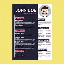 coloured templates coloured curriculum vitae template vector free download