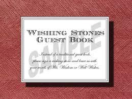 wedding signing stones wedding wishing guest book sign wishing stones