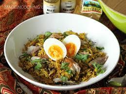 poisson cuisiné kedgeree riz indien au poisson fumé made in cooking