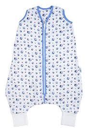 slumbersafe muslin summer sleeping bag with feet early walker 0 5