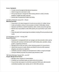 tour manager resume marketing tour manager resume 100 images