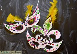 mardi gras masks kids activity free printable with 2 masks