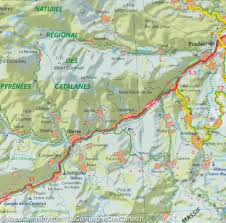 Spain France Map by Map Of Eastern Pyrenees U0026 Andorra France Spain Michelin