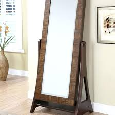 Full Length Mirror Jewelry Storage Wall Mount Mirrored Jewelry Armoire Floor Standing Mirror White In