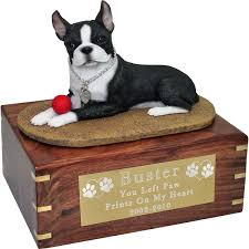 boston cremation wholesale pet cremation wood urns boston terrier with