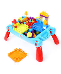 mega bloks first builders table bloks first builders build n learn table 80 pieces multicolor