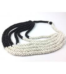 strand necklace images Beaded multi strand necklace in black white made in rwanda jpg