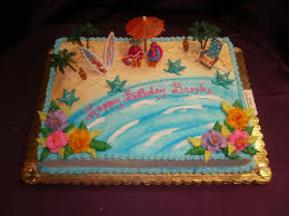 Cake Decorations Beach Theme - easy beach themed cakes with buttercream icing google search