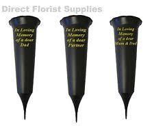 Memorial Vases For Graves Uk Grave Vase Spike Other Memorials U0026 Funerals Ebay
