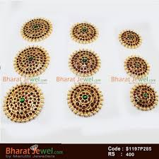 bharatanatyam hair accessories 9 pc pearl billai braid kemp stones hair temple ornament temple