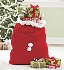 santa sacks velvet gift santa sack with cord drawstring hearthsong