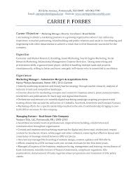 best product manager resume example livecareer marketing goals