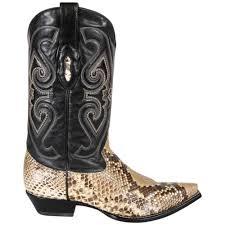 corral mens exotic natural python pointed toe cowboy boots