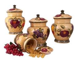italian canisters kitchen 4pc italian canister set tuscany fruit decor