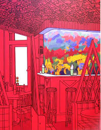 patrick caulfield u2013 black outlines and bright saturated colours