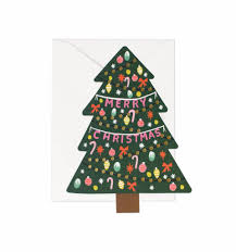 rifle paper christmas tree card typo market