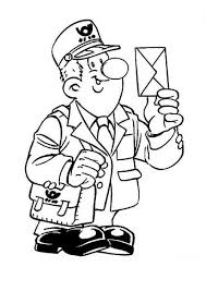 mailman hat coloring page postman coloring pages coloring pages for kids