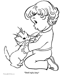 cute coloring sheet of kitten 031
