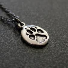 silver wolf necklace images Tiny wolf track necklace in sterling silver wolf paw track etsy jpg