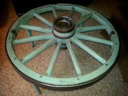 Wagon Wheel Coffee Table by Wagon Wheel Coffee Table