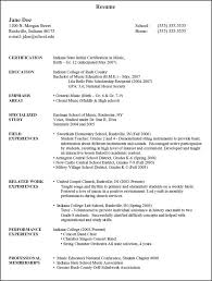 Resume For Tutor Music Resume For College Best Resume Collection